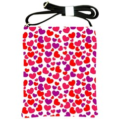 Love Pattern Wallpaper Shoulder Sling Bags