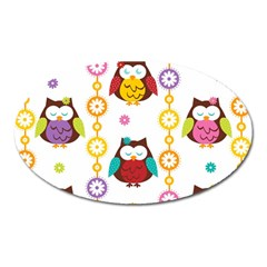 Owl Oval Magnet by AnjaniArt