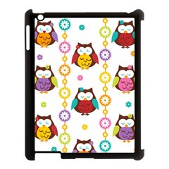 Owl Apple Ipad 3/4 Case (black)