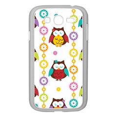 Owl Samsung Galaxy Grand Duos I9082 Case (white) by AnjaniArt