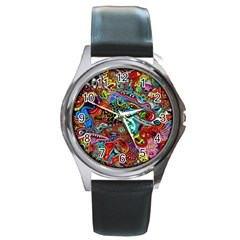 Moster Mask Round Metal Watch by AnjaniArt