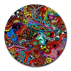 Moster Mask Round Mousepads by AnjaniArt