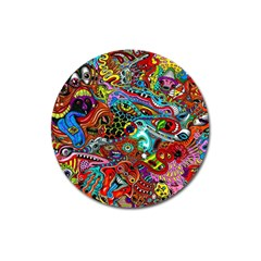 Moster Mask Magnet 3  (round) by AnjaniArt