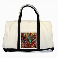 Moster Mask Two Tone Tote Bag by AnjaniArt