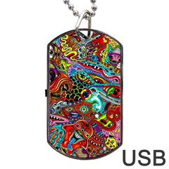 Moster Mask Dog Tag Usb Flash (two Sides)