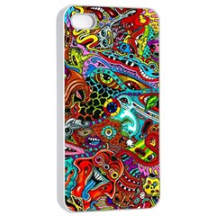 Moster Mask Apple Iphone 4/4s Seamless Case (white) by AnjaniArt