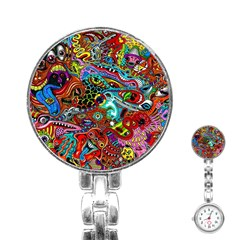 Moster Mask Stainless Steel Nurses Watch by AnjaniArt