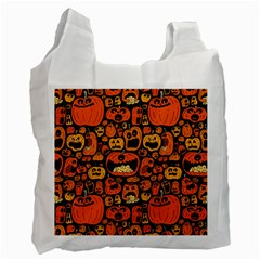 Pumpkin Helloween Recycle Bag (two Side)  by AnjaniArt