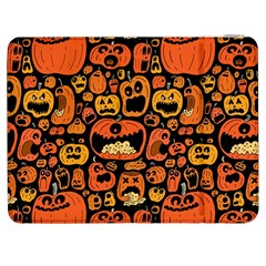 Pumpkin Helloween Samsung Galaxy Tab 7  P1000 Flip Case by AnjaniArt