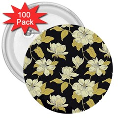 Pattern Rose 3  Buttons (100 Pack)