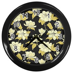 Pattern Rose Wall Clocks (black)