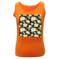 Pattern Rose Women s Dark Tank Top