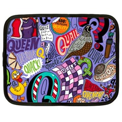 Q Pattern Netbook Case (xxl)  by AnjaniArt