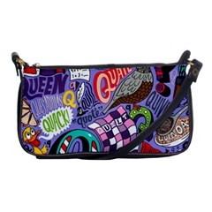 Q Pattern Shoulder Clutch Bags by AnjaniArt