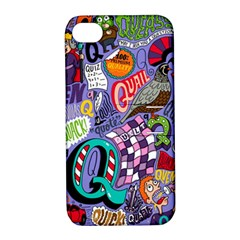 Q Pattern Apple Iphone 4/4s Hardshell Case With Stand by AnjaniArt