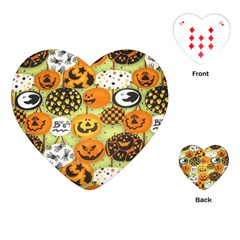 Print Halloween Playing Cards (heart)  by AnjaniArt