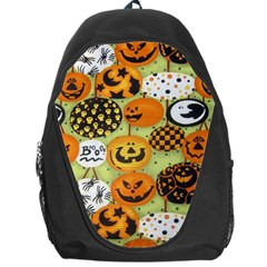 Print Halloween Backpack Bag by AnjaniArt
