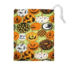 Print Halloween Drawstring Pouches (extra Large)