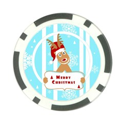 Santa Claus Reindeer Christmas Poker Chip Card Guards