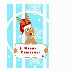 Santa Claus Reindeer Christmas Small Garden Flag (two Sides)