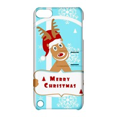 Santa Claus Reindeer Christmas Apple Ipod Touch 5 Hardshell Case With Stand
