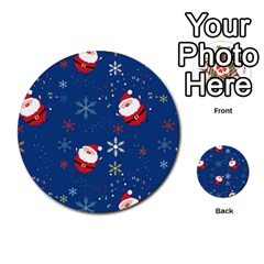 Santa Clause Multi Purpose Cards (round)  by AnjaniArt