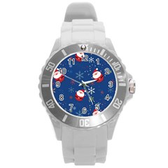 Santa Clause Round Plastic Sport Watch (l)