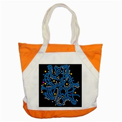 Blue Fantasy Accent Tote Bag by Valentinaart