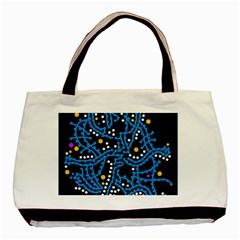 Blue Fantasy Basic Tote Bag (two Sides) by Valentinaart