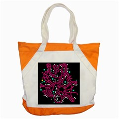 Pink Fantasy Accent Tote Bag by Valentinaart
