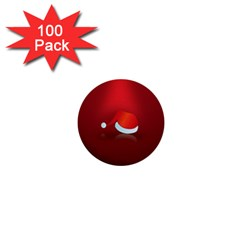 Red Christmas Had 1  Mini Buttons (100 Pack)