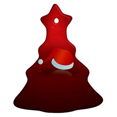Red Christmas Had Christmas Tree Ornament (2 Sides)