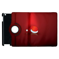 Red Christmas Had Apple Ipad 2 Flip 360 Case by AnjaniArt