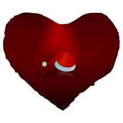 Red Christmas Had Large 19  Premium Heart Shape Cushions