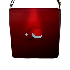 Red Christmas Had Flap Messenger Bag (l)  by AnjaniArt