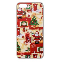 Santa Clause Mail Bird Snow Apple Seamless Iphone 5 Case (clear) by AnjaniArt