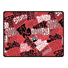 Tals Stupid Fleece Blanket (small) by AnjaniArt