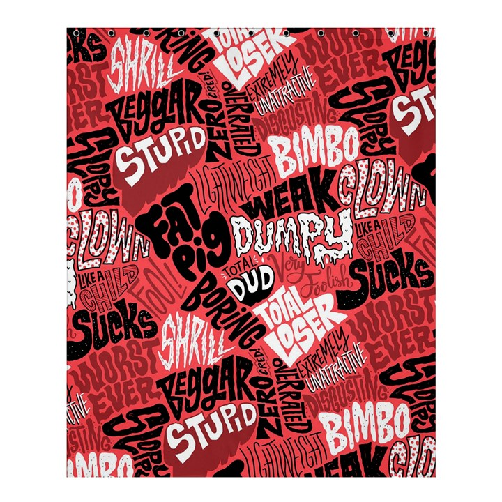 Tals Stupid Shower Curtain 60  x 72  (Medium)