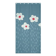 Cloudy Sky With Rain And Flowers Shower Curtain 36  X 72  (stall)  by CreaturesStore