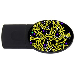 Yellow Fantasy Usb Flash Drive Oval (2 Gb)  by Valentinaart