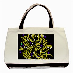 Yellow Fantasy Basic Tote Bag (two Sides) by Valentinaart