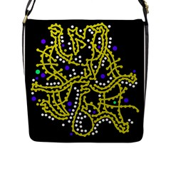 Yellow Fantasy Flap Messenger Bag (l)  by Valentinaart
