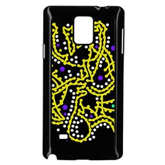 Yellow Fantasy Samsung Galaxy Note 4 Case (black) by Valentinaart