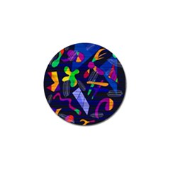 Colorful Dream Golf Ball Marker by Valentinaart