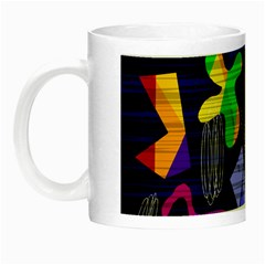 Colorful Dream Night Luminous Mugs by Valentinaart