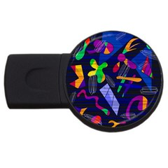 Colorful Dream Usb Flash Drive Round (4 Gb)  by Valentinaart