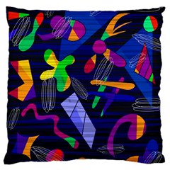 Colorful Dream Large Cushion Case (one Side) by Valentinaart