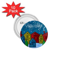 Xmas Landscape 1 75  Buttons (10 Pack) by Valentinaart