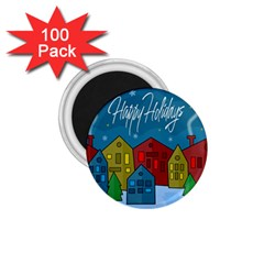 Xmas Landscape 1 75  Magnets (100 Pack)  by Valentinaart
