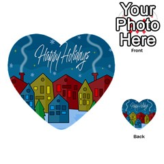 Xmas Landscape Multi Purpose Cards (heart)  by Valentinaart